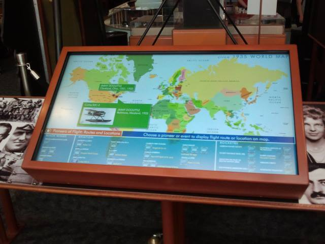 The Pioneers of Aviation touchscreen at the Smithsonian Air and Space Museum.