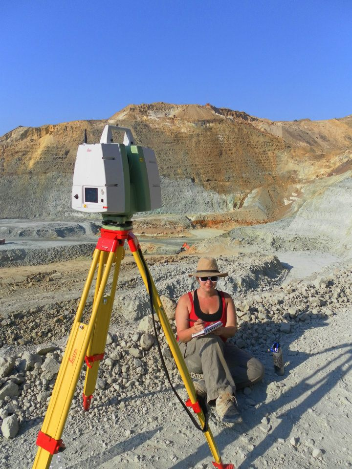 Laser Scanning with the University of Cyprus at the Skouriotissa Mine in Cyprus