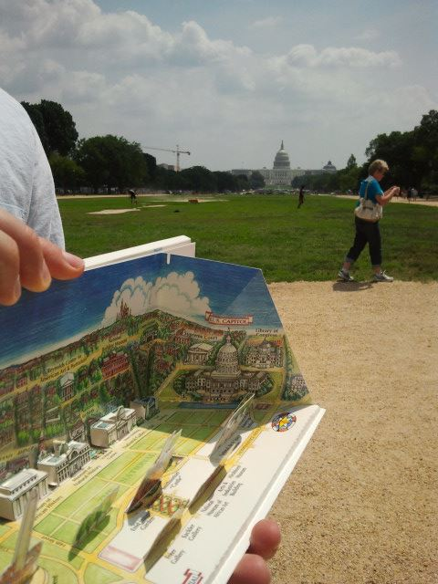 The Smithsonian's pop up map helped us find the Capital building ;)