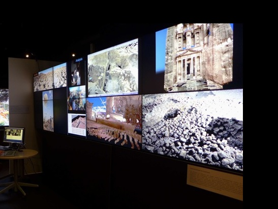 Ashley M. Richter & Vid Petrovic's work from Jordan displayed on one of the Calit2 Optiportables at the event.