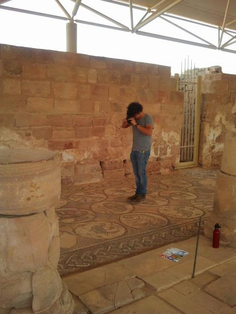 Vid Petrovic imaging at the Byzantine Mosaic Church at Petra, Jordan.
