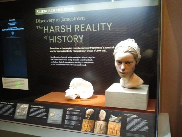 The Harsh Reality of Jamestown display at the Smithsonian Natural History Museum.