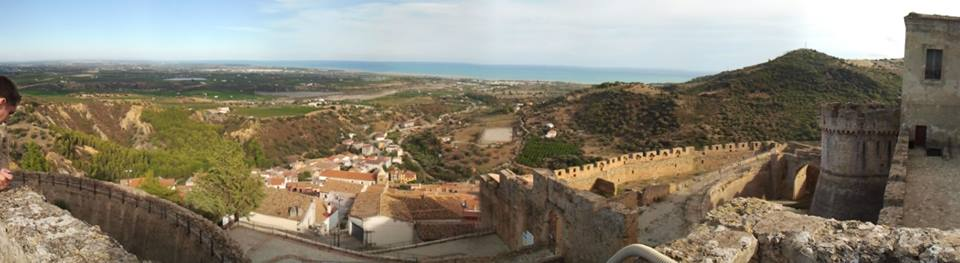 The view from the battlements of Castello Svevo di Rocca Imperiale