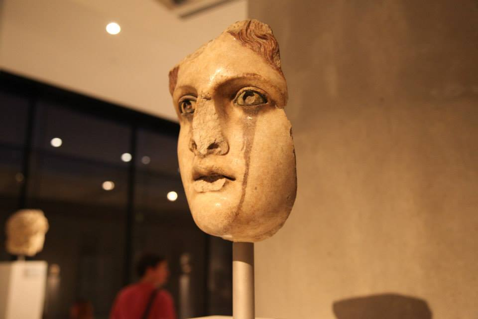 The crying maiden at the new Acropolis Museum of Athens.