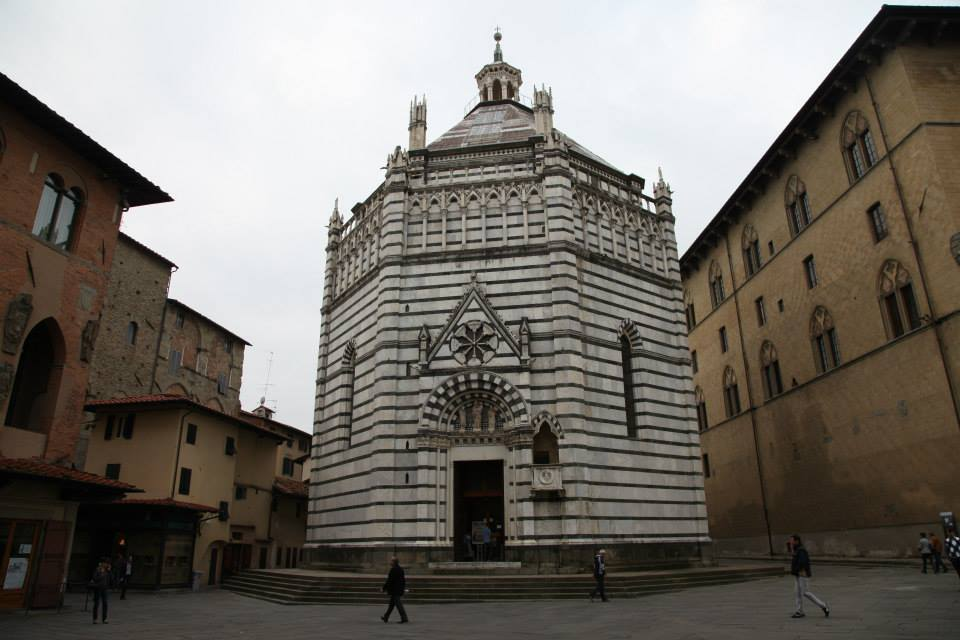 The Baptistery of San Giovanni in Corte of Pistoia, Italy. (Not to be confused with the Baptistery of San Giovanni of Florence, Italy...because that doesn't happen ever)