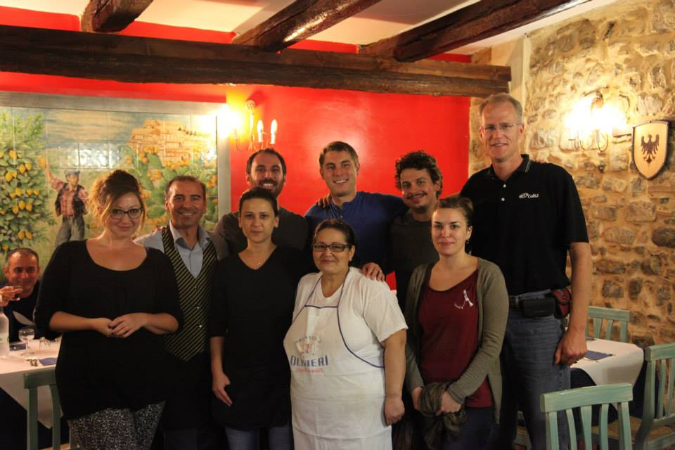 Vid Petrovic, Ashley M. Richter, Mike Hess, CISA3 Director Falko Kuester, local artist Romina Giordano, and the staff at La Casa Incantata
