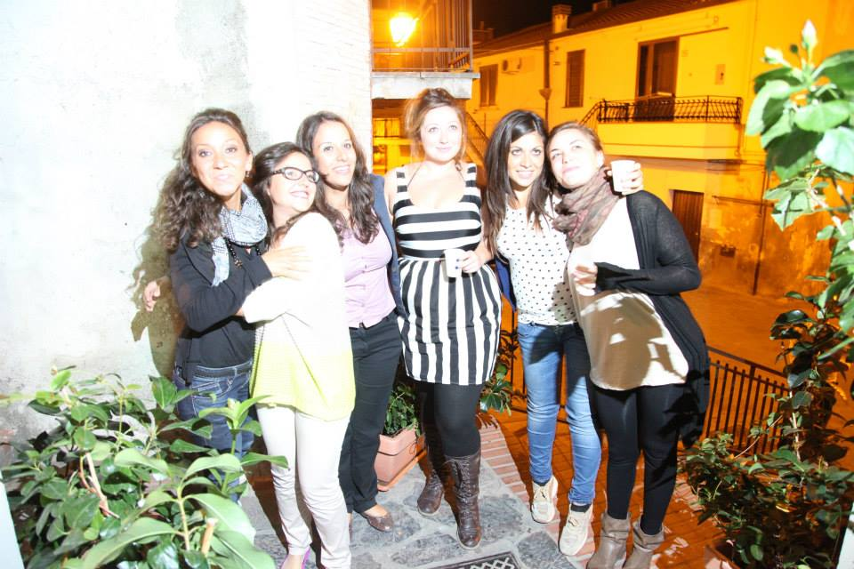 The girls of the field season: Loredonna, Paola, X, myself, X, and local artist Romina Giordano.