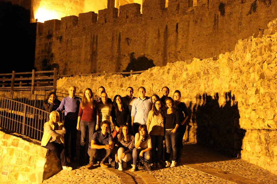 The CISA3 and University of Calabria team visiting Castello Svevo after a long day in the field at Murgie di Santa Caterina.