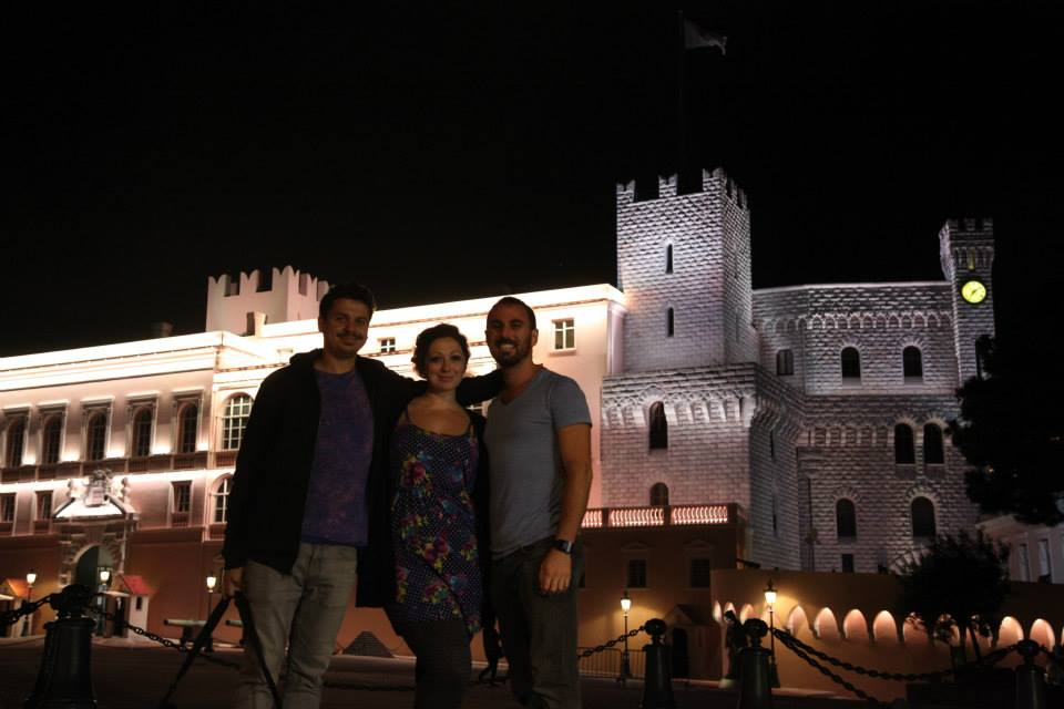 Vid Petrovic, Ashley M. Richter, and DV outside the palace in Monaco. It is more Disney-looking than most of Disney. Still cool though.