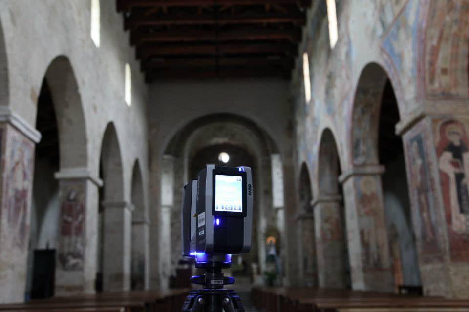 The Faro Focus 3D imaging inside Santuario Anglona.