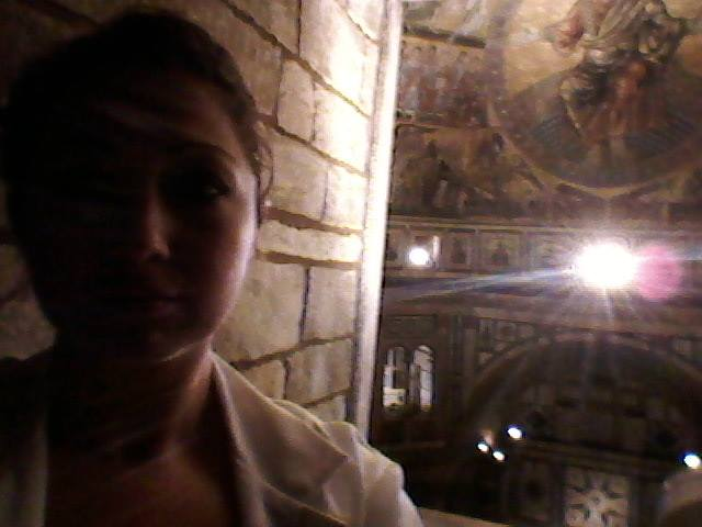 Baptistery Selfie while waiting for the laser scanner on the upper floor of the Baptistery of St. Giovanni. I don't do them often. I swear.
