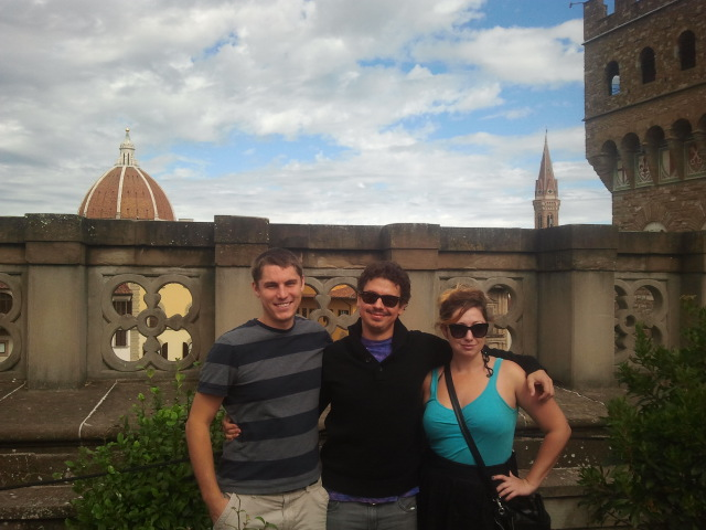 Myself, Vid, and Mike on the roof of the Uffizi gallery in Florence. Just because.