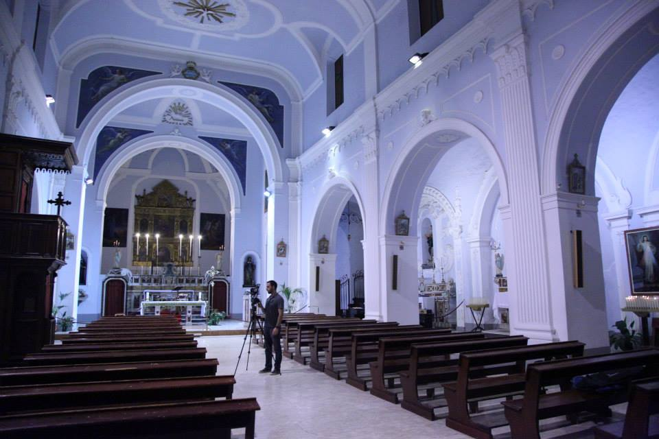 Inside the Church of Maria