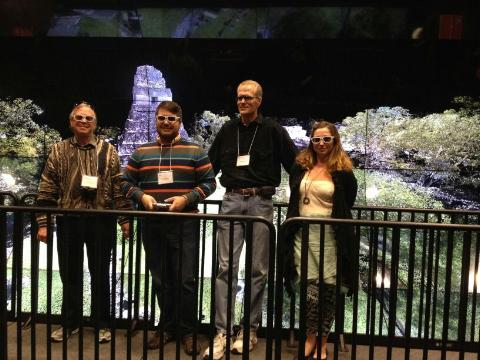 WAVE creator Tom DeFanti, CyArk's Justin Barton, CISAs current Director Falko Kuester, and myself-digital archaeologist Ashley M. Richter.