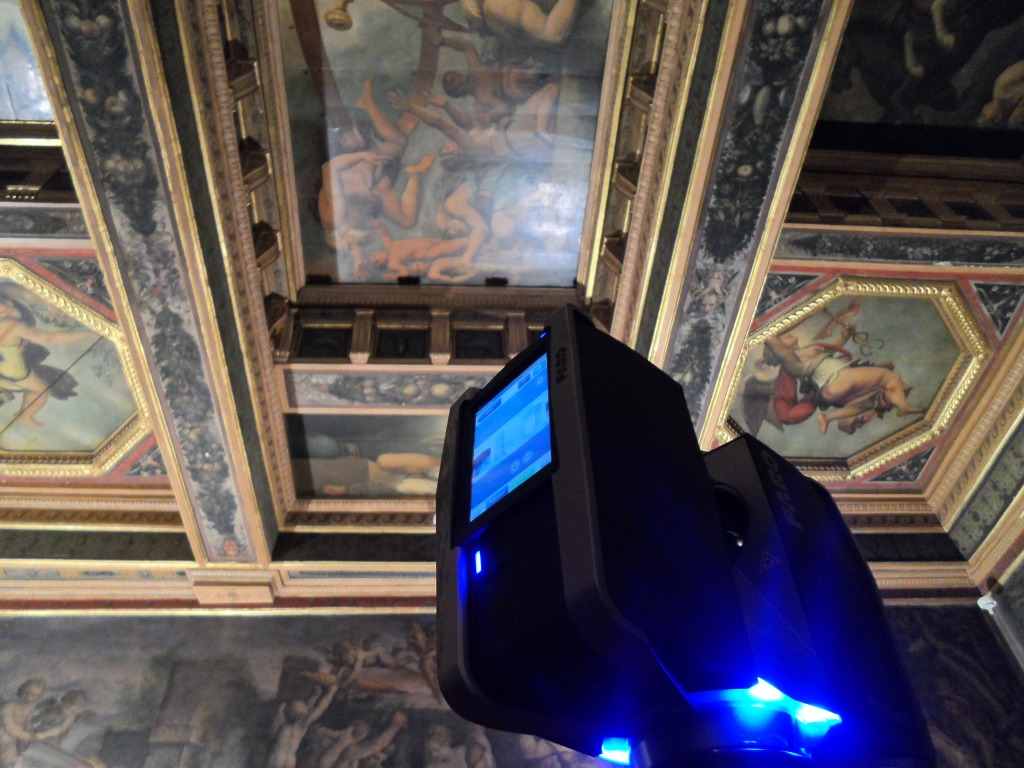 The Faro in the Room of the Elements in Palazzo Vecchio.