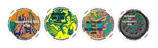 The OAA Medallions emphasizing Technology for Art's Sake & Technology for Archaeology's Sake.