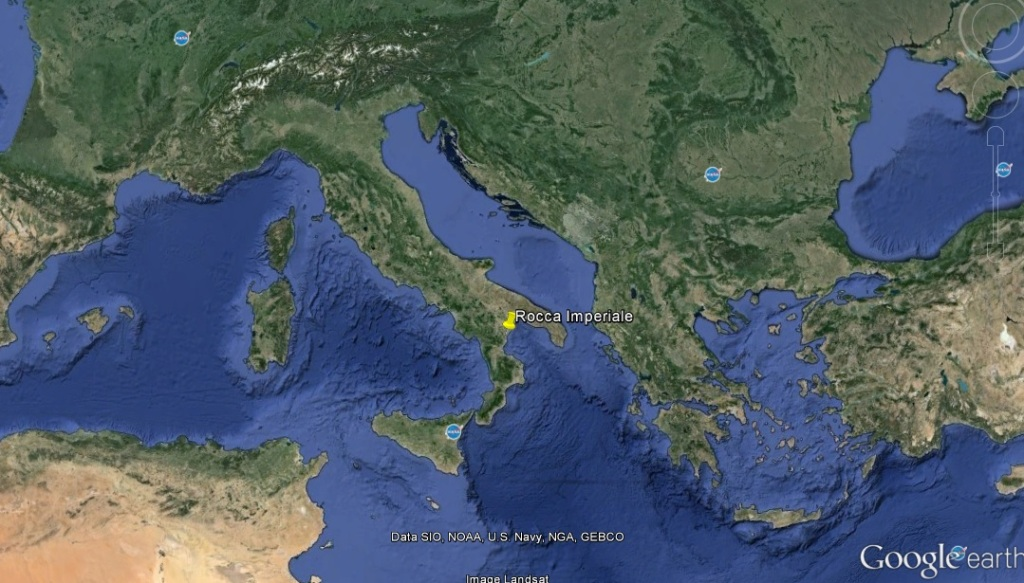 Google Earth reference for Rocca Imperiale, Italy