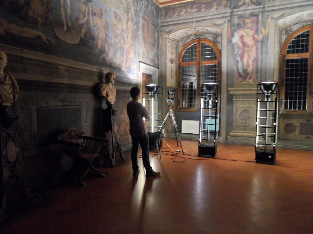 Vid Petrovic Imaging the Room of the Elements in Palazzo Vecchio, Florence.